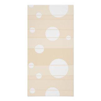 Punkte und Streifen in der Vanille Poster