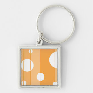 Punkte und Streifen in gelb-orangeem Schlüsselanhänger