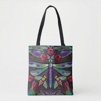 Punktierte Libelle DruckTascheneinkaufstasche Tasche