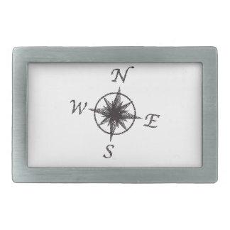 Punktierungs-Kompass-Gesicht Rechteckige Gürtelschnalle