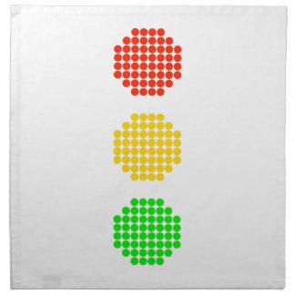 Punktstoplight-Farben Stoffserviette