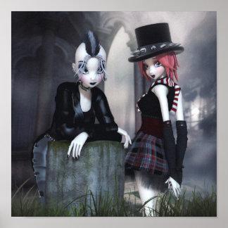 Punky Goths Leinwand/Plakat-Druck Poster