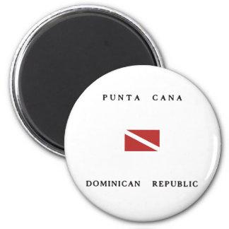 Punta Cana Dominikanische Runder Magnet 5,7 Cm