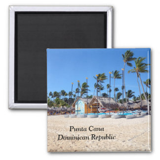 Punta Cana in der Dominikanischen Republik Quadratischer Magnet