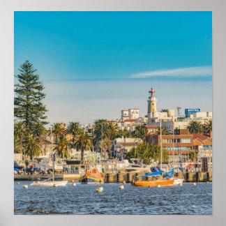 Punta del Este-Hafen, Uruguay Poster