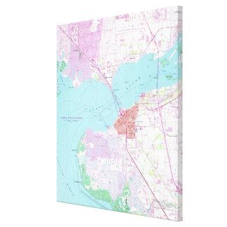 Punta Gorda u. Hafen Charlotte Florida Map (1957) Leinwanddruck