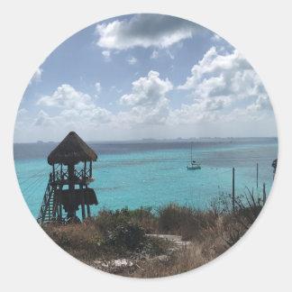 Punta Sur, Isla Mujeres, Mexiko-Aufkleber Runder Aufkleber