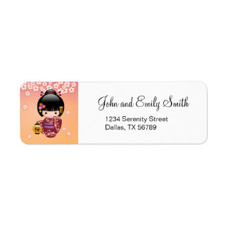 Puppe Kirschblütes Kokeshi - Geisha-Mädchen auf
