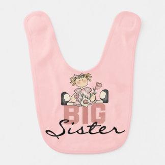 Puppen-große Schwester-Schellfisch Babylätzchen