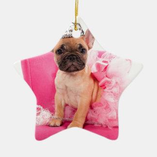 Puppy french bulldog disguised keramik ornament