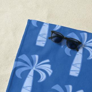 Pupule Vintages Palme-hawaiisches Ozean-Blau Strandtuch