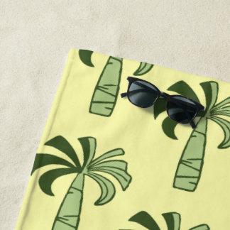 Pupule Vintages Palme-hawaiisches zitronengelbes Strandtuch