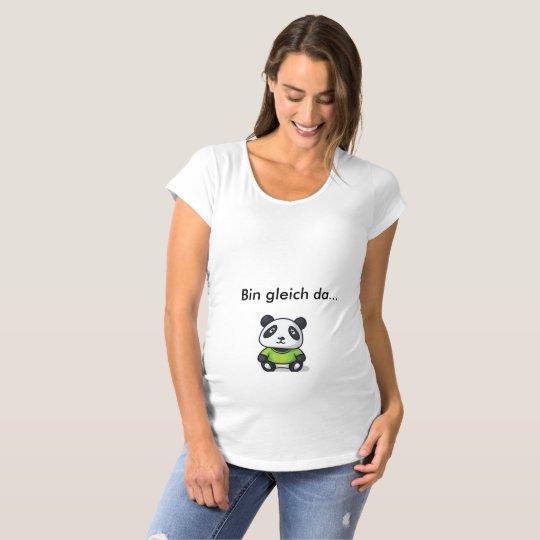 Puqopuqo für werdende Mütter - Der Panda Schwangerschafts T-Shirt