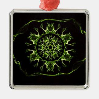 PurifyingEye Quadratisches Silberfarbenes Ornament