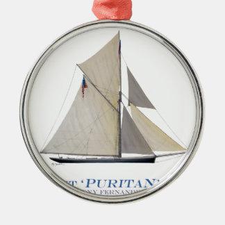 Puritaner 1885 silbernes ornament