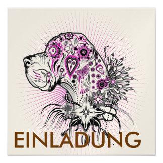 Purle Deutsche Dogge Quadratische 13,3 Cm Einladungskarte