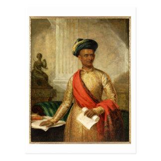 Purniya, Hauptminister von Mysore, c.1801 (Öl an Postkarte