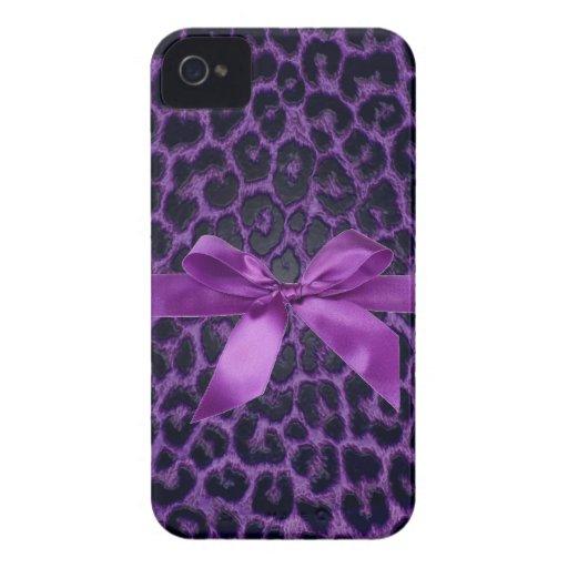 Purpe Leopard-Druck iPhone Case-Mate-Fall iPhone 4 Case-Mate Hüllen