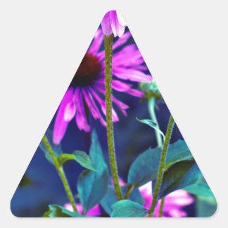 Purple Coneflowers Dreieckiger Aufkleber