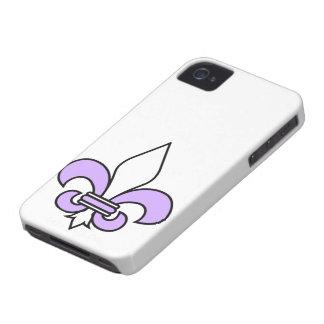 Purple Fleur De Lys iPhone 4 Hülle