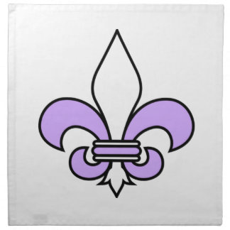 Purple Fleur De Lys Stoffserviette