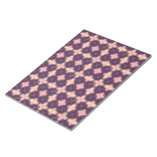 Purple Kaleidoscope Pattern Notizblock