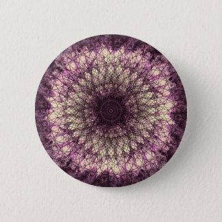 Purple Mandala Runder Button 5,7 Cm