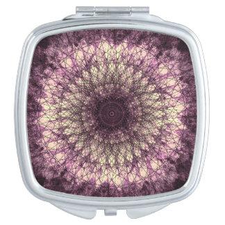 Purple Mandala Schminkspiegel