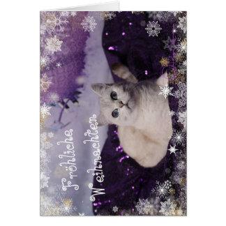 Purple XMAS Cats Karte