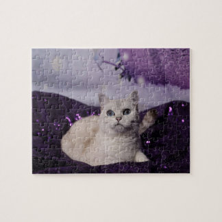 Purple XMAS Cats Puzzle