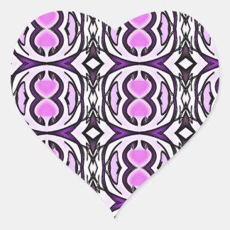 Purpurnes Veilchen Herz-Aufkleber