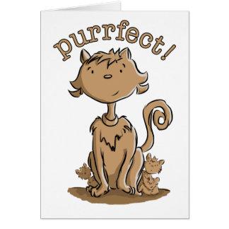 Purrfect Mamakatze und -kätzchen Grußkarte