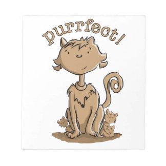 Purrfect Mamakatze und -kätzchen Notizblock
