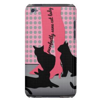 Purrfectly gesunde Katzen-Dame iPod Case-Mate Hülle