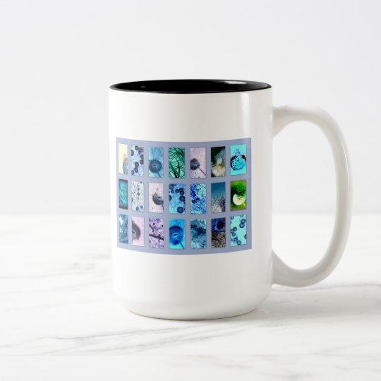 Pustenblütenblau Zweifarbige Tasse