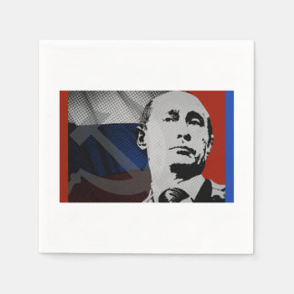 Putin mit russischer Flagge Serviette