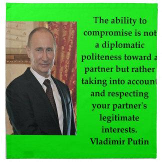 Putin-Zitat Serviette