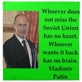 Putin-Zitat Stoffserviette