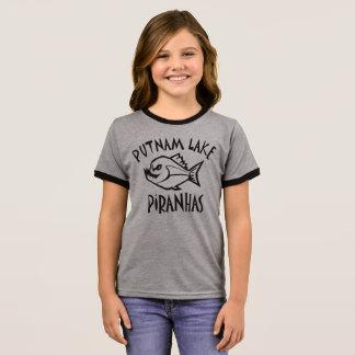 Putnam Seepiranhas-Wecker-T-Stück Mädchen Ringer T-Shirt