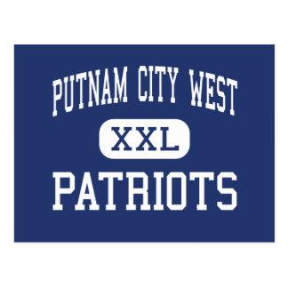 Putnam Stadt-West- Patrioten - hohes - Oklahoma Postkarte