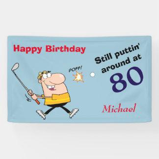 Puttin um Geburtstags-Party des Golf-80 Banner