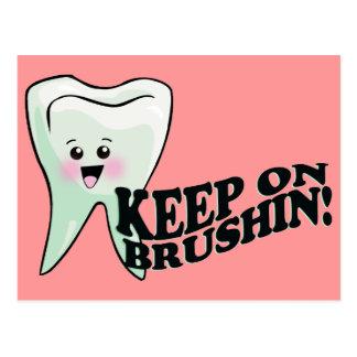 Putzen Sie Ihre Zähne! Postkarte