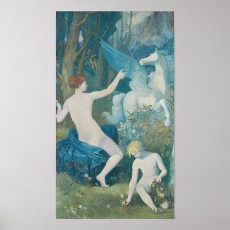 Puvis de Chavannes Fantasy CC0180 Poster