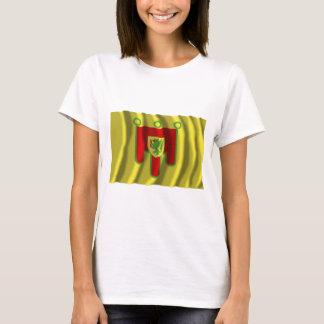 Puy-de-dôme, das Flagge wellenartig bewegt T-Shirt