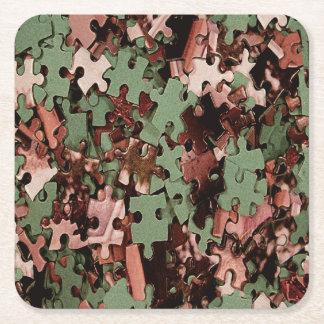 Puzzle-Neuheit Rechteckiger Pappuntersetzer