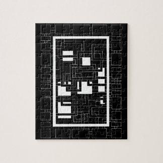 """Puzzle """"schwarzes und weißes Vierecklabyrinth"""""""