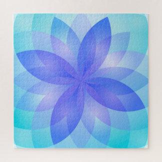 Puzzlespiel-abstrakte Lotos-Blume Puzzle