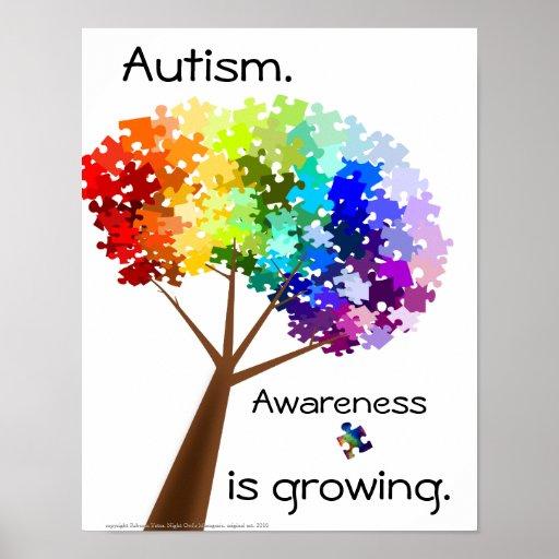 Puzzlespiel-Baum-Autismus-Bewusstseins-Plakat