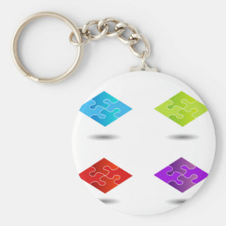Puzzlespiel in den verschiedenen Farben Schlüsselanhänger