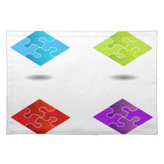 Puzzlespiel in den verschiedenen Farben Tischsets